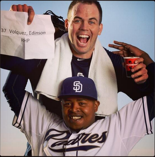 Volquez y Richard